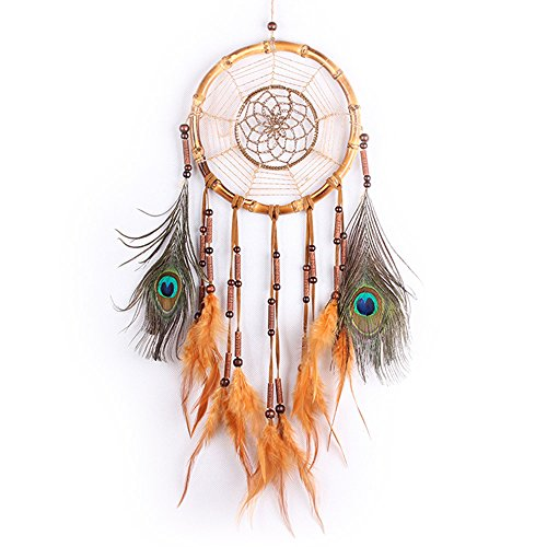 Dreamcatcher Geschenk handgefertigt Indian Dream Catcher Wind Chimes Feder Anhänger Wandbehang Home Dekoration Ornament (Indian-leggings Für Frauen)