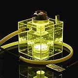 Shisha hookah Wasserpfeife Set mit LED Licht Fernbedienung Schlauch Zubehör Kombination Modernes Hochwertiges elektronisches Shisha Kit / Acryl Shisha Blinking Multi Color Smokers Aktuelle Auswahl