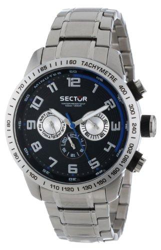 Sector R3253575002 - Reloj cronógrafo de cuarzo para hombre con correa de acero inoxidable, color plateado