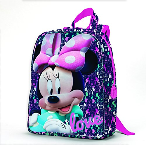 Minnie Disney D96021 MC Zainetto per Bambini, 27 cm, Multicolore