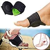 Medipaq - Arch unterstützt, Plantarfasziitis Einlagen Elastische Bandage Orthotics Pads Einlegesohlen Fuß Ärmeln Unterstützung für schwache, Fallen, Fuß Schmerzlinderung Plantar Schuhe Einsatz 2 Paar