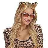 NET TOYS Cinta para el Pelo Orejas Leopardo Diadema para el Cabello de Gato Accesorio Guepardo Banda del Pelo Bisutería Felina Orejas Animales Tigre Accesorio Disfraz Mujer Onza