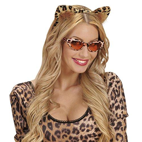 NET TOYS Leoparden Ohren Haarreif Katzenohren Harreifen Leopard Kopfschmuck Katzen Haarschmuck Tigerohren Tierohren Kostüm Accessoire - Nette Katze Ohren Kostüm