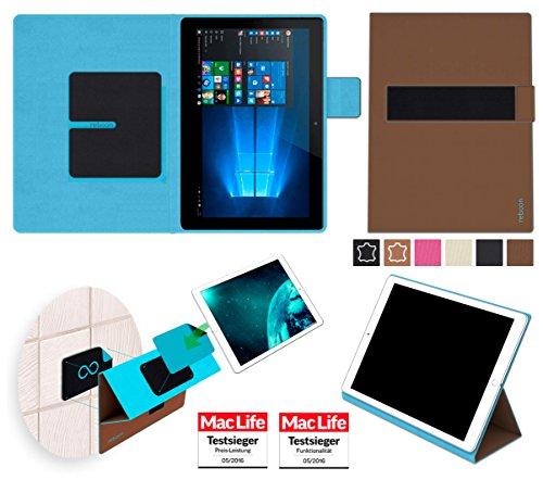 reboon Hülle für Allview WI10N Tasche Cover Case Bumper | in Braun | Testsieger