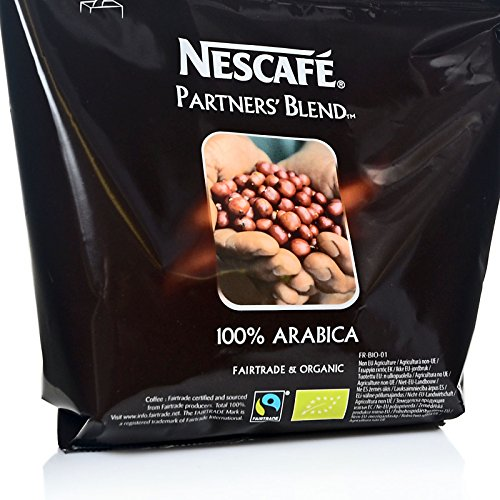 Nestle Nescafe Partners Blend Instantkaffee 12 x 250g - Fairtrade und 100% Arabica, löslicher...