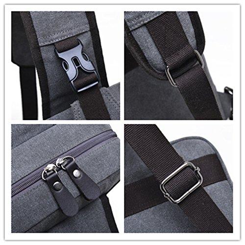 Umhängetasche Outdoor Schleuder Tasche Brust Segeltuch-Riemen-Beutel-Kasten-Beutel-Satz-Kurier-Beutel für Mann-Frauen-im Freienwandern des Fahrrades Grau