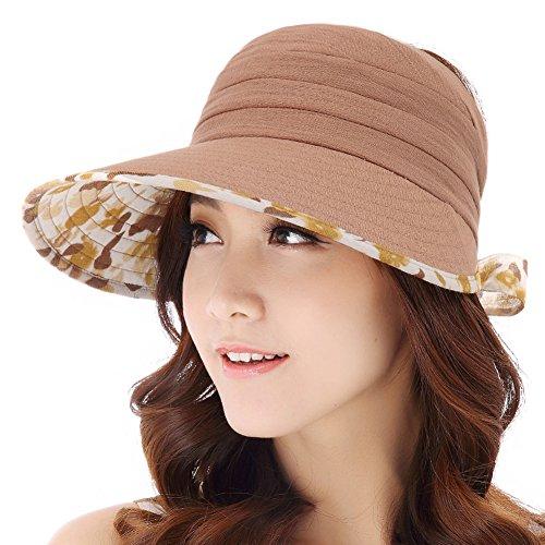 Chapeaux de plage de Lady/Protection anti-UV Cap/Ponytail chapeau de soleil B
