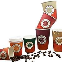 Bicchiere di carta per cappuccino con coperchio (1000