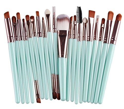 Bigood 20Pcs Pinceau Brosses Maquillage Outils Cosmétique Professionnel