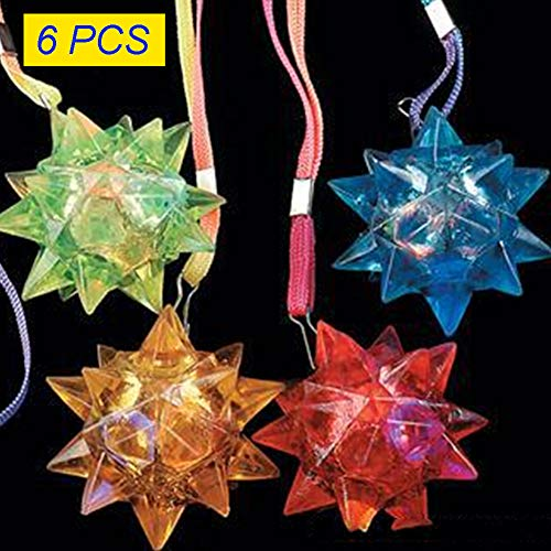 nden Sternen und LED-Kugel mit blinkenden Kristallen, zufällige Farbauswahl ()