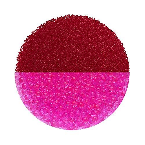 Trendfinding Granulat für künstliche Blumenerde Hydroperlen Hydro Perlen Wasserperlen Aquaperlen Rosé-Rot Pink 1-2 mm (Rote Glas Perlen Für Vasen)