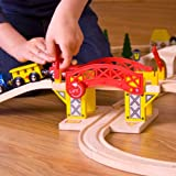 Bigjigs Rail Lifting Bridge - Other Major Wooden Rail Brands are Compatible