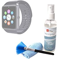 DURAGADGET Kit De Limpieza Para Smartwatch Mobiper G08 / Wiseup GT08 - Limpiador + Paño De Microfibra + Brocha - Anti Manchas