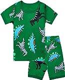 Qtake Fashion - Pijama para niños de 1 a 12 años, Ropa de Dinosaurio, 100% algodón, Ropa de Dormir para niños pequeños
