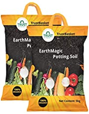 TrustBasket Enriched Organic Earth Magic Potting Soil Fertilizer for Plants
