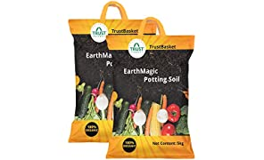 Trust Basket Enriched Organic Earth Magic Potting Soil Fertilizer, 10 kg (Multicolour)