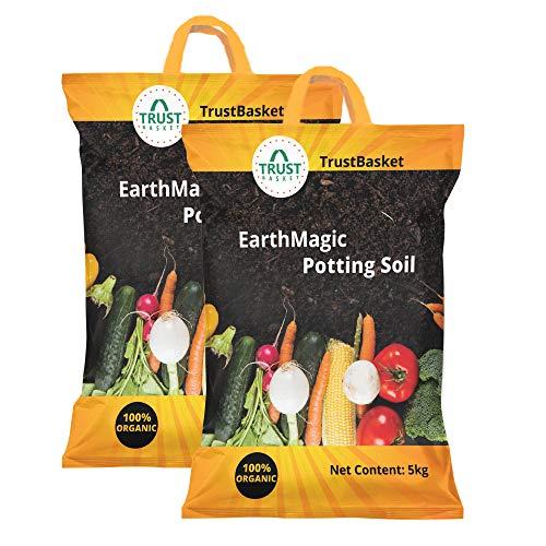 Trust Basket Enriched Organic Earth Magic Potting Soil Fertilizer for Plants -10 Kg