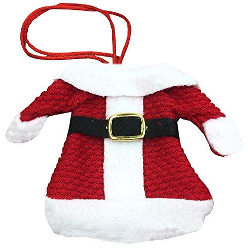 BOZEVON Weihnachten Besteckhalter Taschen Kostüm Besteck-Beutel Weihnachtsdekoration Besteckset - Geschirr verzieren Kleidung