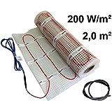 EXTHERM: Alfombra Calefactora de Cable Doble Twin Cable para Instalación en Suelos Radiantes de 200w/2m² - Calidez Cómoda en Todo su Hogar - Soluciones de Energía Renovable