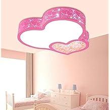 SEXY- Alma Gemela Parche De LED Tono Acrílico Alta Transmitancia Hierro Luces De Techo Cuarto De Los Niños Lámparas Rosa / Blanco (35cm, 50cm, 60cm) --Lámpara de techo caliente ( Color : Oscurecimiento promesa , Tamaño : Pink-35cm )
