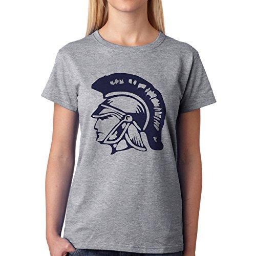 Head Sparan Helmet Warrior Side Damen T-Shirt Grau