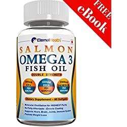 Eternalhealth Salmon Omega 3 Fish Oil Capsules (Double Strength) - 60 Softgel