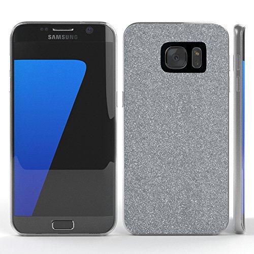 Samsung Galaxy S7 Edge Hülle - EAZY CASE Handyhülle - Ultra Slim Glitzer Schutzhülle aus Silikon in Champagner Glitzer Silber