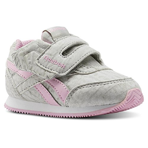 Reebok Royal Cljog 2 Kc, Chaussures de Trail Mixte Enfant, Gris (Elephant/Cloud Grey/Charming Pink 000), 26.5 EU