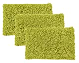 Raya Home 3 Piece Bathmat-Doormat - 40x60x1 CM- Green