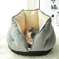 Haustierbett Katzenbett Kleines Aokawa Sofa 4 Jahreszeiten Universal/Katzennest Plüsch Tiefgrauer Bequemer Schlafsack, Innen Und Außen Verwendbar Katzennest (Size : M)
