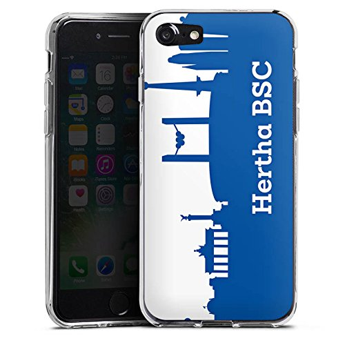 Apple iPhone 7 Tasche Hülle Flip Case Hertha BSC Fanartikel Silikon Case transparent