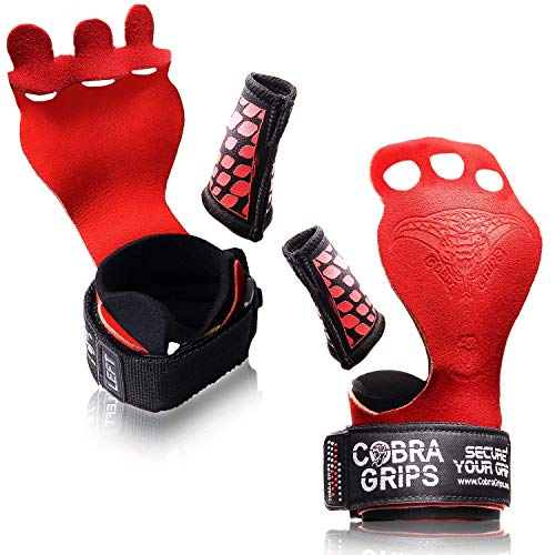 Cross Training Grips Best Gymnastics Grips Keep Your Hands Free from Blisters & Callouses Pullups We (RED Nubuck Leather, Medium 4.25