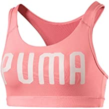 Puma Pwrshape Forever-Logo Sujetador Deportivo, Mujer, Rosa (Soft Fluo Peach)