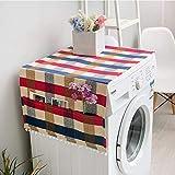 Uniuooi Housse de protection pour réfrigérateur en tissu pour machine à laver 55 * 130 Red