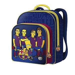 51j4UKf53gL. SS300  - FCBARCELONA Mochila 30cm Bar«A Simpsons - FC Barcelona Mochila Tipo Casual, 40 cm, 22 litros, Multicolor