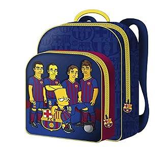 FCBARCELONA Mochila 30cm Bar«A Simpsons – FC Barcelona Mochila Tipo Casual, 40 cm, 22 litros