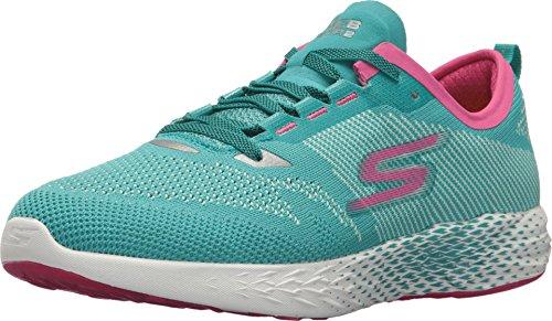 Skechers Womens Go MEB Razor 2 Turquoise/Pink 8.5 B - Medium