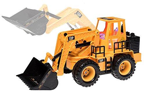 RC Spielzeug kaufen Spielzeug Bild 1: Top Race 5 Kanal voll funktionsfähiger Frontlader, Elektro RC Fernsteuerung BauTraktor TR-113 (mit Licht & Sounds), Gelb*