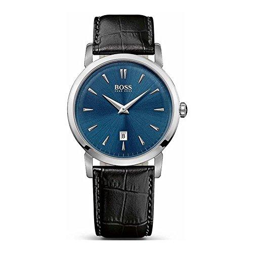 hugo-boss-herren-armbanduhr-xl-analog-quarz-leder-1513091