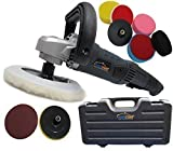 PowerStorm® Car Polisher Sander Buffer with Carry Case Plus 9 Car Polisher Heads