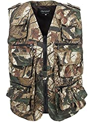 LUSI MADAM Hommes Multi-poches Voyage Chasse Pêche Gilets