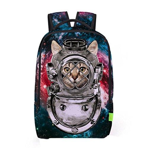 Tasche, feiXIANG 3D Galaxy Travel Tasche Rucksack Rucksack B