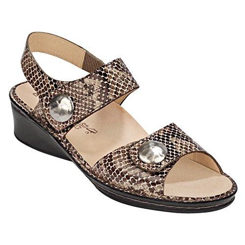 Finn Comfort Womens Alanya Leather Sandals Marrone (marrone)