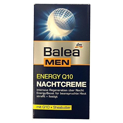 Balea Men energy Q10 Nachtcreme mit Q10 + Sheabutter (50 ml)