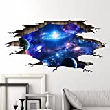 3D Stereo Wall Sticker Wohnzimmer Schlafsaal decke Dekoration fantasy space Planet 3D-Universum Galaxy 113 x 58 cm
