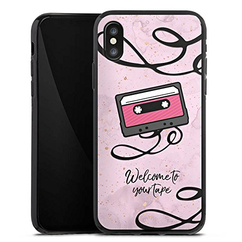 Apple iPhone X Silikon Hülle Case Schutzhülle 13 reasons reasons why Kassette Silikon Case schwarz