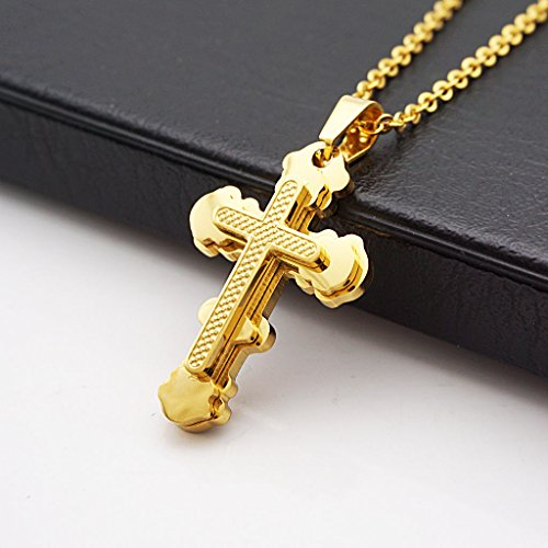18CT-PURE-GOLD-AND-RHODIUM-COATED-JESUS-CHRIST-CROSS-PENDANT-SPECIAL-CHRISTMAS-OFFER
