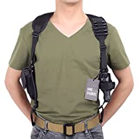 OneTigris–Fondina tracolla custodia a pistola tattico con una tasca di rivista per i tiratori Mancini, nero - Tattico Pistola