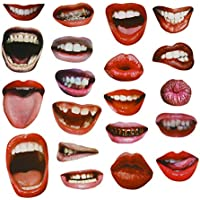 20PCS Funny Sexy Lips Mouth Photo Booth Props pour mariage Party Réunions anniversaires
