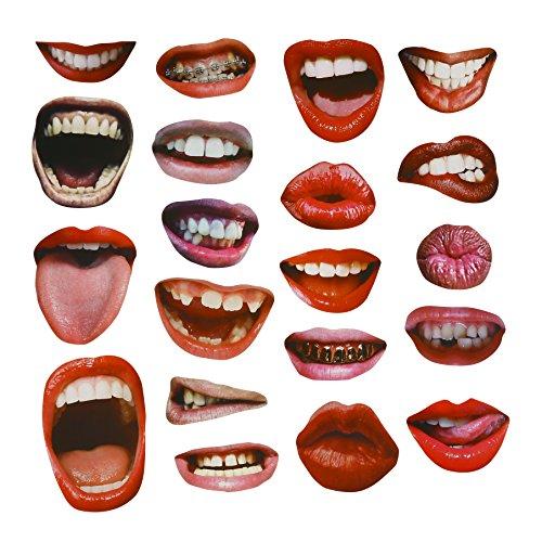 Masken Lustig (20PCS lustige reizvolle Lippen-Mund-Foto-Stand-Stützen für)